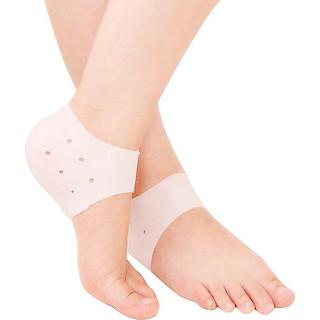 4 Bộ vớ silicon bảo vệ gót chân mềm mại chống nứt nẻ phù hợp cho nam và nữ