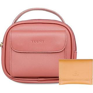 Túi Đeo Chéo Nữ Thời Trang YUUMY YN44 nhiều màu (Tặng ví cầm tay YV12)