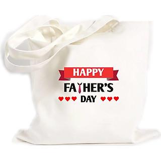 Túi Vải Đeo Vai Tote Bag In họa tiết Chúc mừng ngày của bố