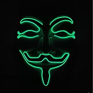 Mặt Nạ Nhựa Hóa Trang Hacker Anonymous Có Đèn Led