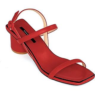 Giày Sandal Gót Trụ 5 phân Sulily SGT1-II20 màu đỏ