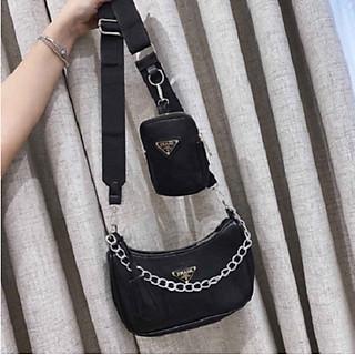 Túi xách đeo chéo nữ set 2 món thời trang mùa hè