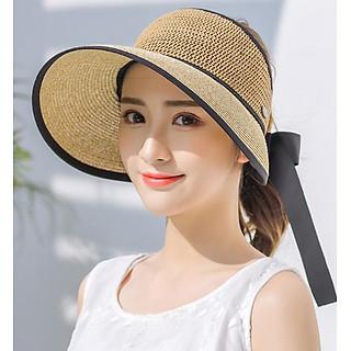 Mũ chống nắng rộng vành nửa đầu thời trang, nón chống nắng nữ phong cách Hàn