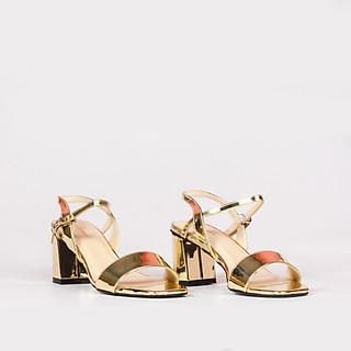 Sandal cao gót 5 cm quai mảnh da cao cấp V015100