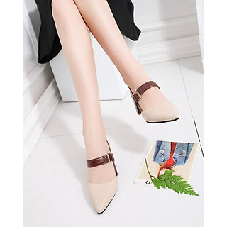 Giày Cao Gót 6CM Mũi Nhọn Gót Vuông Da Mềm Êm Chân 3Fashion - 3059