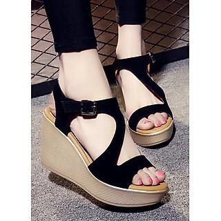 Dép sandal nữ đế xuồng X01