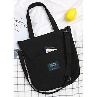 Túi đeo chéo vải canvas LAHstore, túi vải nữ TV014, phong cách Hàn Quốc, thời trang trẻ