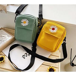 Túi tote, túi vải đựng điện thoại hoa cúc siêu hot TTS 426