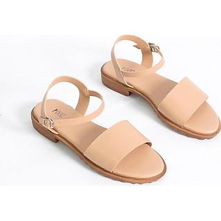 Giày Sandal Bệt 2cm Quai Bản To Pixie X468