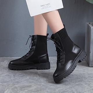 Boots Nữ Đen Cá Tính