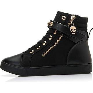 Giày Sneaker nữ cổ cao B002Den