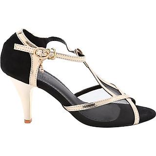 Giày Cao Gót Nữ Phối Viền Da LN925