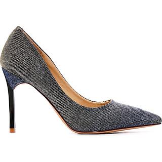 Giày  cao gót nữ, cao 9CM, da tổng hợp nhập khẩu cao cấp. Mũi nhọn, gót nhọn:BL.P20100.9F