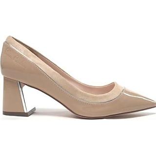 Giày cao gót vuông 5 phân Pierre Cardin PCWFWSD096CRM màu kem