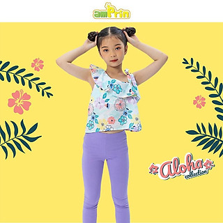 Áo lệch vai bé gái AmPrin Floral AG720