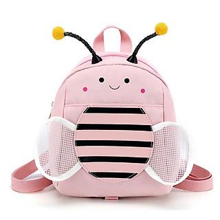 Balo cho trẻ em đi học in hình ong vườn hoa thời trang kèm dây chống đi lạc tặng combo 4 món
