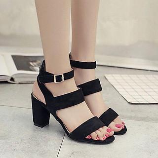 Giày cao gót nữ bản lớn thời trang- 7p -YN14