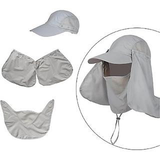 Mũ, nón che năng nắng đi câu, thiếu kế thời trang vải mái chống tia uv có thể tháo rời thành mũ lưỡi trai