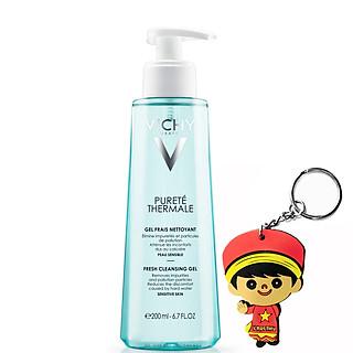 Gel rửa mặt Vichy Purete ThermaleFresh Cleansing Gel200ml (tặng móc khoá)