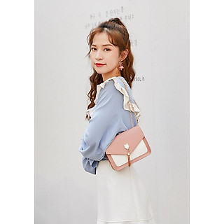 Túi đeo nữ thời trang  dây xích, nhỏ xinh, chất liệu PU bền đẹp TK0040