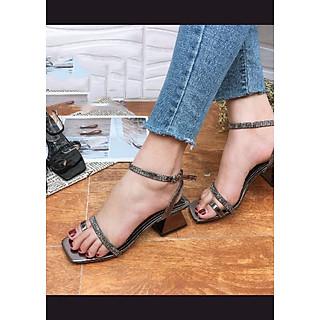 Sandal xỏ ngón quai nhỏ đính đá 5p