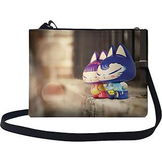 Túi Đeo Chéo Nữ In Hình Cặp Đôi Mèo -TUCP261 (17 x 24cm)