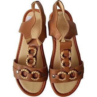 Giày Sandal Nữ BIGGBEN Da Bò Thật SDN03