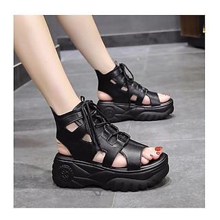 Giày sandal nữ đế bánh mì cá tính đế cao 6cm S122