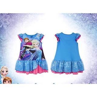Đầm Thái Elsa-Anna Bé Gái Cao cấp-Màu Xanh