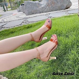 Giày cao gót MIKA quai trong - Guốc cao gót quai mika gót nhọn 7p