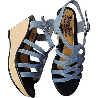 Giày Sandal Nữ Đế Xuồng BIGGBEN Da Bò Thật SDX20