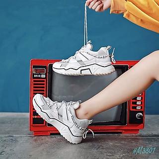 Giày Thể Thao Phản Quang MINSU CENICE M3801, Giày Sneaker Nữ Phản Quang Hot Nhất 2021 Thiết Kế Độc Đáo Cực Chất Ngầu Khi Mang Giày Đi Học, Giày Đi Chơi