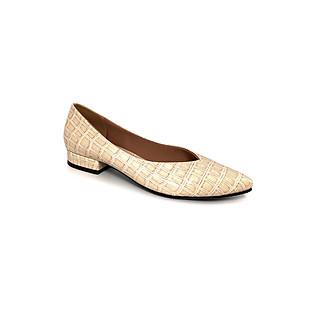Giày Bít Công Sở Gót Vuông 2cm Sulily màu kem