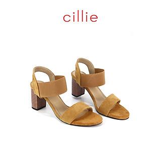 Giày sandal cao 7cm phối thun Cillie 1010