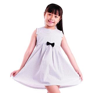 Đầm Xòe Bé Gái Chấm Bi Nơ Xanh Đen Ugether UKID65 - Chấm Bi Xanh Đen