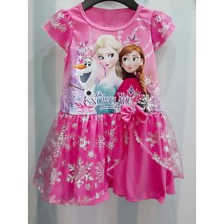 Đầm Thái Elsa-Anna Bé Gái Cao cấp -Màu Hồng