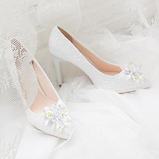 Giày cưới Nghé Art ren kim hoa đá 287