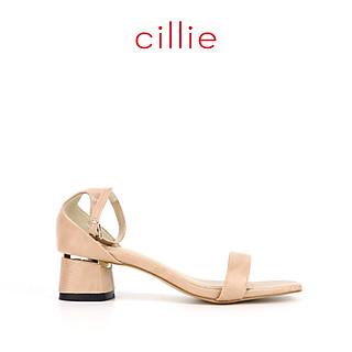 Giày sandal nữ thời trang quai ngang 1235 - Da vân sang trọng đế vuông 5cm - Mang công sở đi chơi