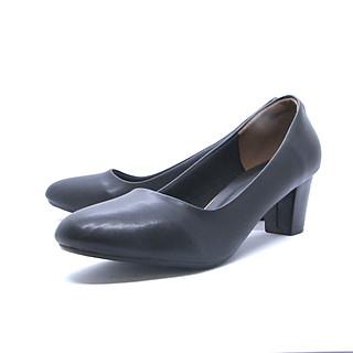 Giày Cao Gót Thời Trang Cao Cấp, Giày Bít Mũi Tròn Gót Cao 5 Phân, Giày Công Sở Êm Chân  Gmic-05052