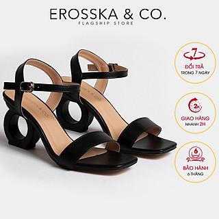 Giày sandal cao gót Erosska thời trang hở mũi phối dây thiết kế sang trọng cao 7cm EB009