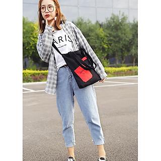 Túi đeo chéo, túi đeo vai nữ vải canvas TV10