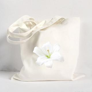 Túi Vải Đeo Vai Tote Bag In Hình Hoa Ly - Mẫu007