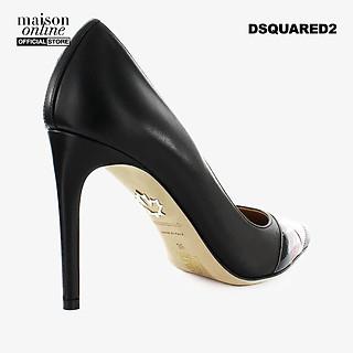 DSQUARED2 - Giày cao gót mũi nhọn Black Red Logo Pump PPW0029-M002