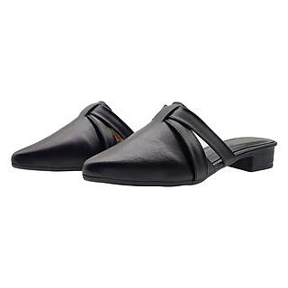 Giày Sabo Nữ Da Bò Thật Cực Mềm Gót Cao 3cm 3P4916