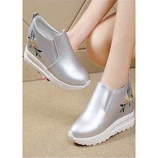 Giày slip on độn 7p da cao cấp siêu mềm siêu nhẹ SLO438922