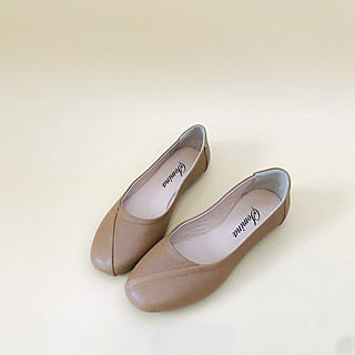 [ Shop giày somina ] Búp bê da thật mũi vuông MT260