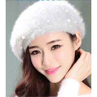 Nón mũ beret len lông thỏ Shinghi thời trang Hàn Quốc dn19081819