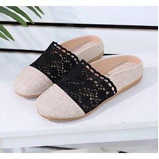 Giày lười vải nữ đế bằng phong cách Hàn Quốc GL8