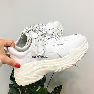 Giày thể thao nữ Sneaker nữ dây kẻ phong cách mới, đế độn 5 phân siêu nhẹ êm chân, chống trơn trượt
