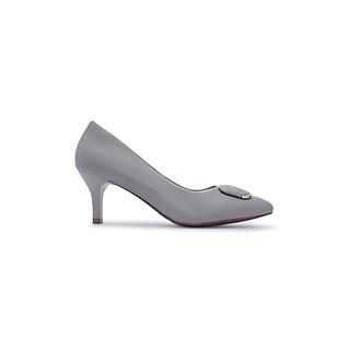 Giày Cao Gót Basic Khóa Bầu Mũi Nhọn Thời Trang Cao 6cm PABNO